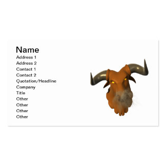 Angry Bull 2 Double-Sided Standard Business Cards (Pack Of 100)