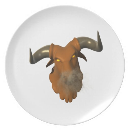 Angry Bull 2 Party Plates