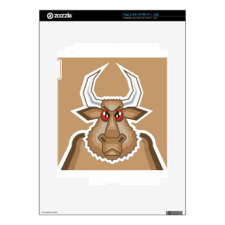 Angry Bull Decals For iPad 2