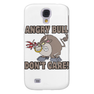 angry bull dont care funny cartoon parody galaxy s4 cover
