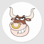 Angry Bull Head Looking Stickers
