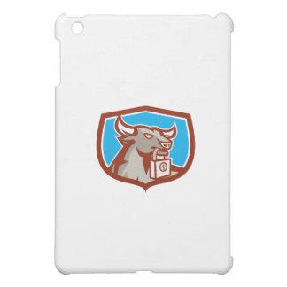 Angry Bull Head Padlock Shield Retro iPad Mini Cases