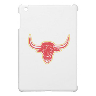 Angry Bull Head Tongue Out Retro iPad Mini Cover