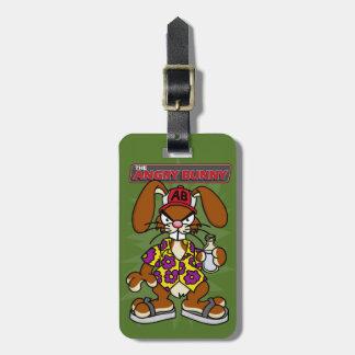 Angry Bunny 1 Luggage Tag