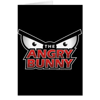 Angry Bunny Abstract Greeting Cards
