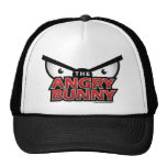Angry Bunny Abstract Hat