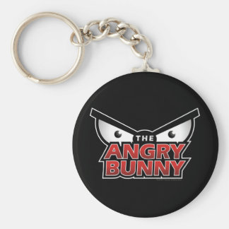 Angry Bunny Abstract Keychain