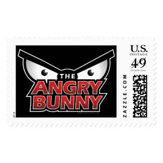 Angry Bunny Abstract Logo Stamp