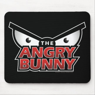 Angry Bunny Abstract Mouse Pad