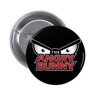 Angry Bunny Abstract Pins