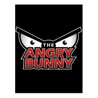 Angry Bunny Abstract Postcard