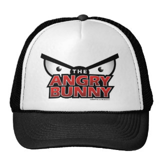 Angry Bunny Abstract Trucker Hat
