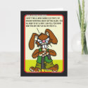 Angry Bunny Birthday Card 1 card