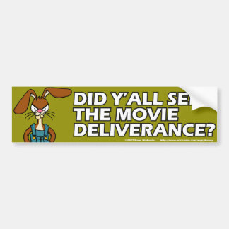 Angry Bunny Bumper Sticker 2