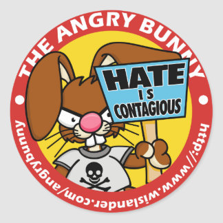 Angry Bunny Bumper Sticker 4