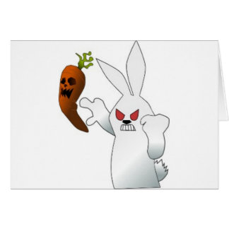 Angry Bunny Greeting Cards