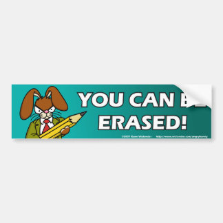 Angry Bunny Erased Bumper Sticker