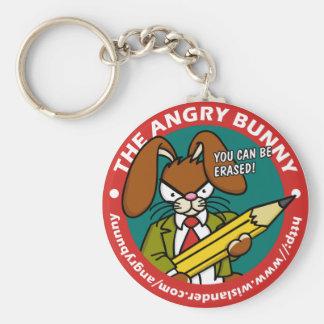 Angry Bunny Erased Keychain