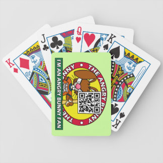 Angry Bunny Fan Bicycle Playing Cards