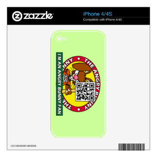 Angry Bunny Fan Decal For The iPhone 4S