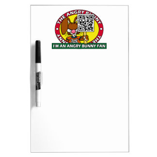 Angry Bunny Fan Dry-Erase Boards
