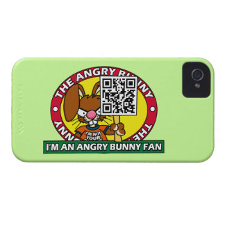 Angry Bunny Fan iPhone 4 Case