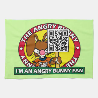 Angry Bunny Fan Kitchen Towel