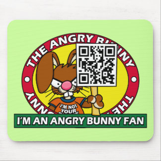 Angry Bunny Fan Mouse Pad