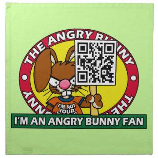 Angry Bunny Fan Napkins
