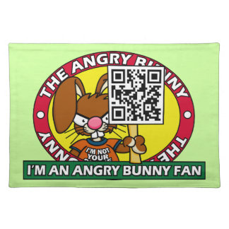 Angry Bunny Fan Place Mats
