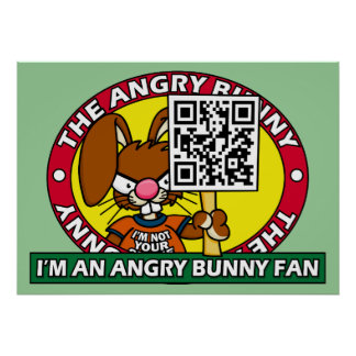 Angry Bunny Fan Poster