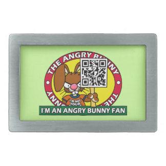 Angry Bunny Fan Rectangular Belt Buckles