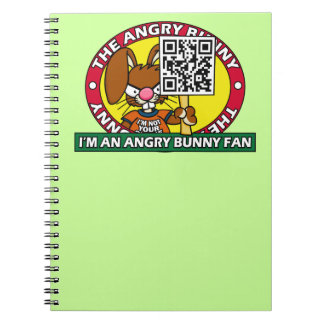 Angry Bunny Fan Spiral Notebook