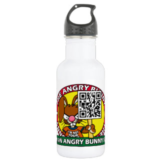 Angry Bunny Fan Stainless Steel Water Bottle