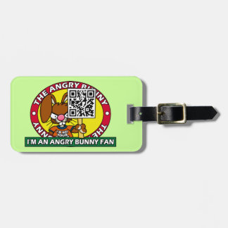 Angry Bunny Fan Tags For Luggage