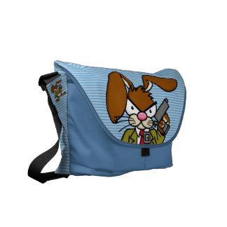 Angry Bunny Gangster Messenger Bag