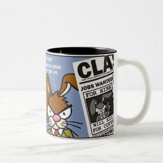 Angry Bunny - Kill for Coffee 3 Two-Tone Coffee Mug