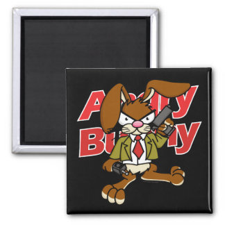 Angry Bunny Magnet 1