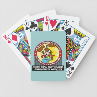 Angry Bunny Plumbing Bicycle Playing Cards
