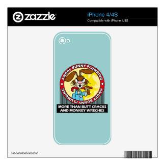 Angry Bunny Plumbing iPhone 4S Skin