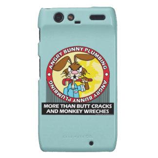 Angry Bunny Plumbing Motorola Droid RAZR Covers