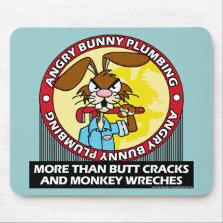 Angry Bunny Plumbing Mouse Pad