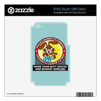 Angry Bunny Plumbing Decals For iPod Touch 4G