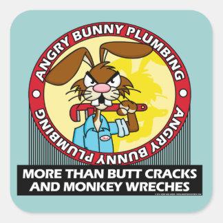 Angry Bunny Plumbing Sticker