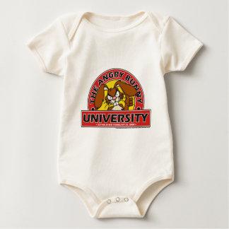 Angry Bunny University Baby Bodysuit