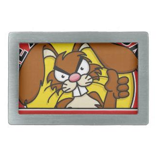 Angry Bunny University Belt Buckles