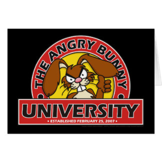 Angry Bunny University Card