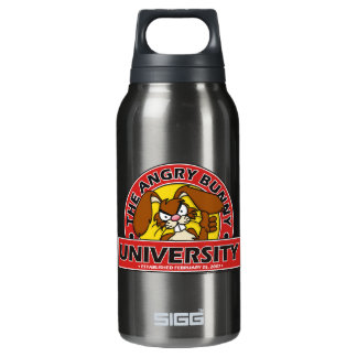 Angry Bunny University Insulated Water Bottle