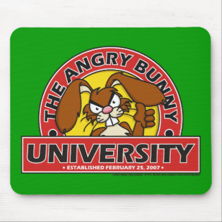 Angry Bunny University Mouse Pads