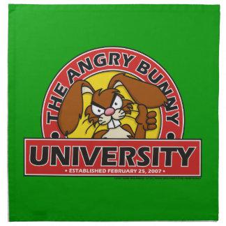 Angry Bunny University Printed Napkins